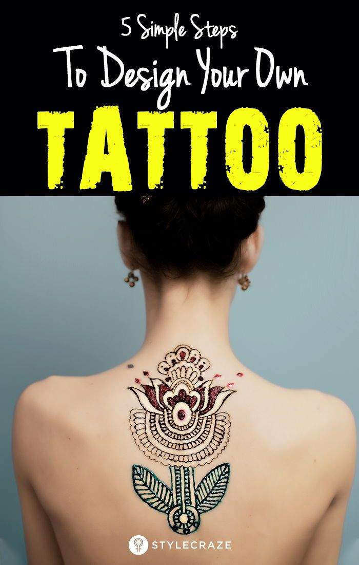 5 Simple Steps To Design Your Own Tattoo | tattoos | Design your own ...