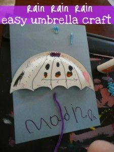 Umbrella craft...I'm going to add a big raindrop hanging from the umbrella where the students have to write about rain...Wednesday's sci plan :)