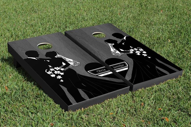 Customize a cornhole set for your wedding reception. So many options available from customweddingames.com or vendors on etsy.