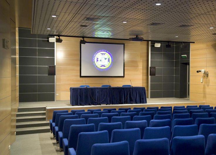 Pormenor do auditório da Universidade Lusíada de Lisboa. (Fotografia de José Manuel Costa Alves, 2005)