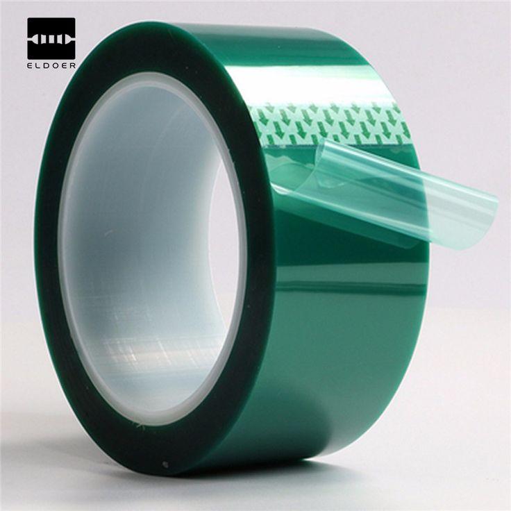 Baru PET Pita Viskositas Yang Baik Suhu Tinggi Tahan Panas Solder Perbaikan 50mm x 33m100ft Warna Cerah Eye-catching hijau