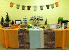 Image result for camo baby shower for boy decorations