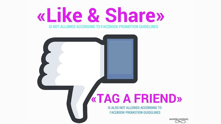 """Facebooks competition rules are described in plain text on Facebooks promotion guidelines under the section """"promotions"""".  Yet there are many companies today that constantly violate these rules and are running """"LIKE & SHARE"""" as a requirement to enter the competition"""" and / or additionally add in the requirement """"Tag a friend (or several) to participate in the competition."""" Click to read more. PINTOREADLATER"""