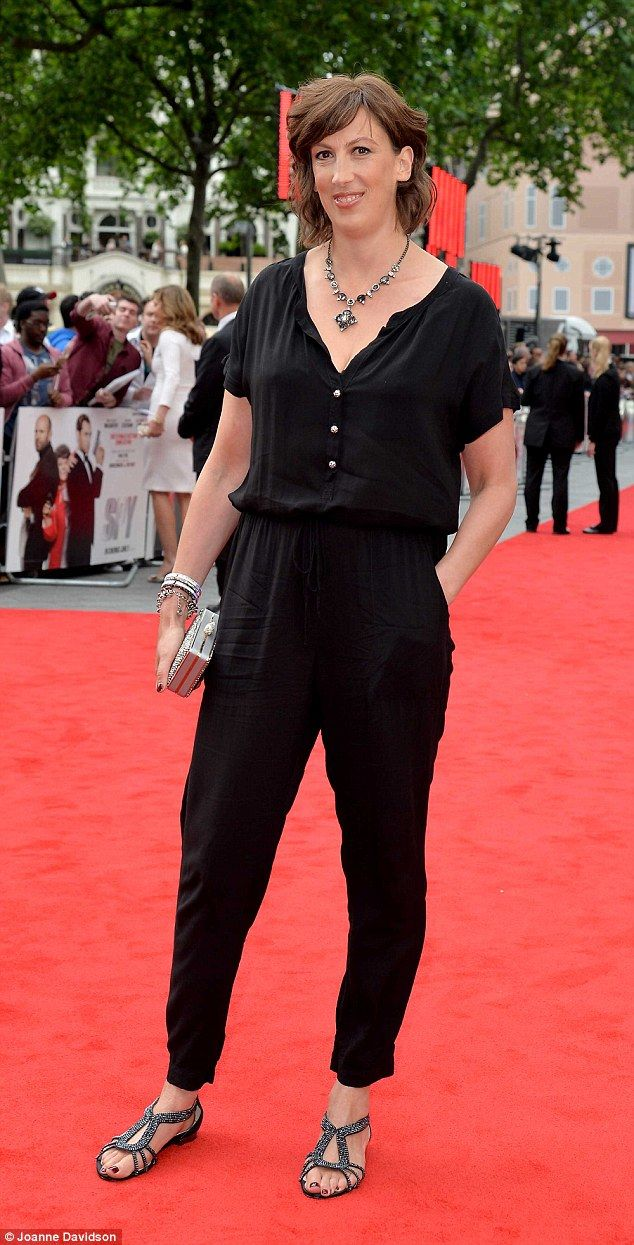Glossy: Miranda Hart once again showed off her glamorous new look as she attended the Lond...