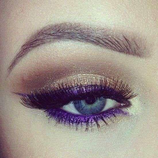Eyeliner viola - Sguardo sexy con l'eyeliner viola