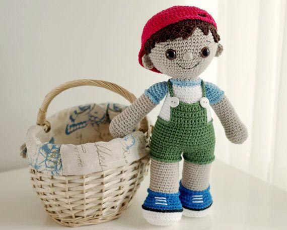 PATTERN  Tobias the Amigurumi Boy Doll by SmartappleCreations