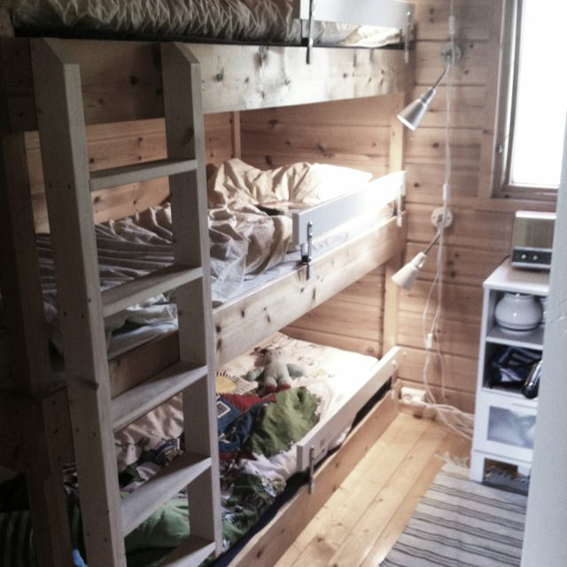 Home made triple bunk bed