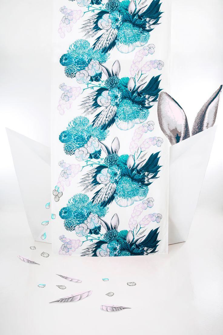 Pupulus curtain (turquoise)