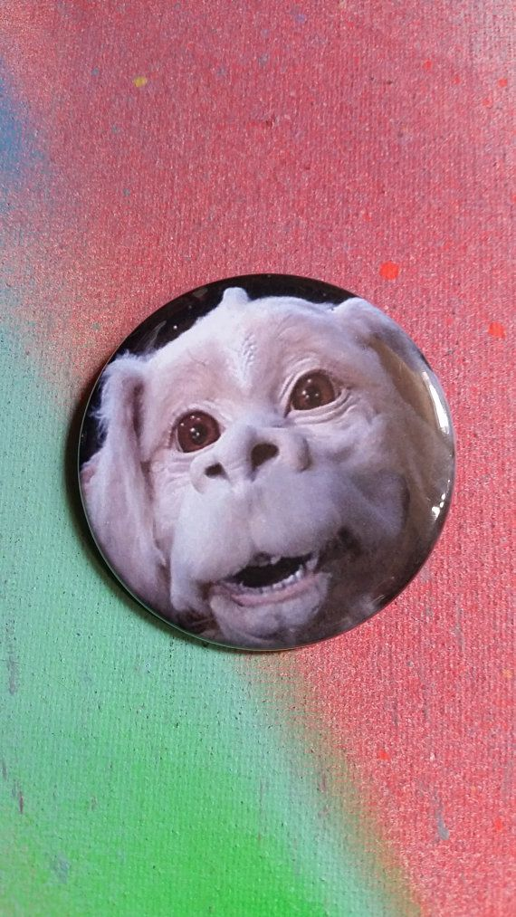 Falcor the Neverending Story pin badge pinback button hand