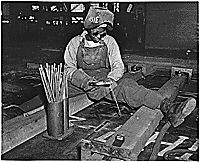 Could have been my father, welding in the shipyard. A quiet man, Ingvald Oliver Opheim of Cyrus, Minnesota. Parents: Valdres, Norway.  Google Image Result for http://wwiishipyarddaycare.tripod.com/shipyardworker.gif