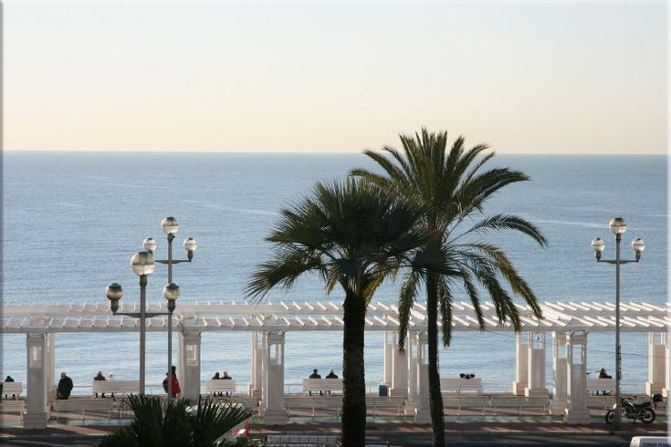 "NICE - #France the georgous boardwalk ""La Promenade des Anglais"", in Nice in the french riviera  http://stampingwithbibiana.blogspot.com/"