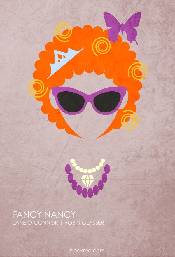 Children S Book Cover Posters : Fancy nancy minimalist poster bookroo don t blink