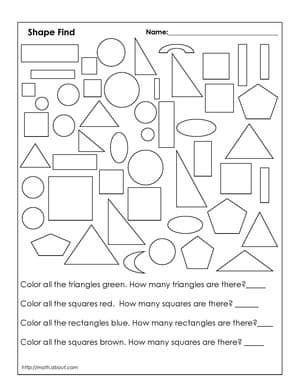 Number Names Worksheets geometry 1 worksheets : Worksheet # 1   Worksheets, 1st Grades and Geometry