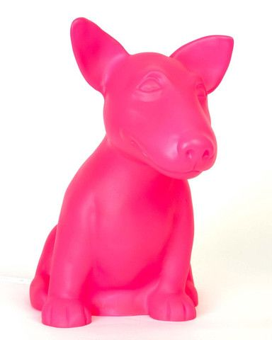 Dog Table Lamp   Pink Onion The Cute Bull Terrier Nice Look