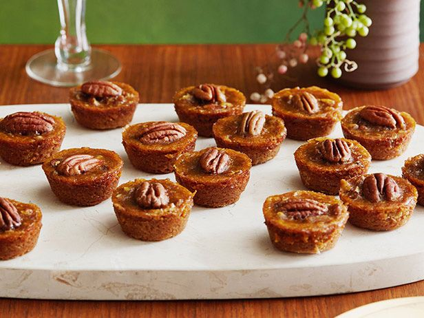 Mini Pecan Pumpkin Pies from FoodNetwork.com  http://www.foodnetwork.com/recipes/sunny-anderson/mini-pecan-pumpkin-pies-recipe/index.html?ic1=obinsite