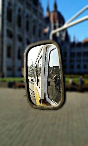 In tram mirror
