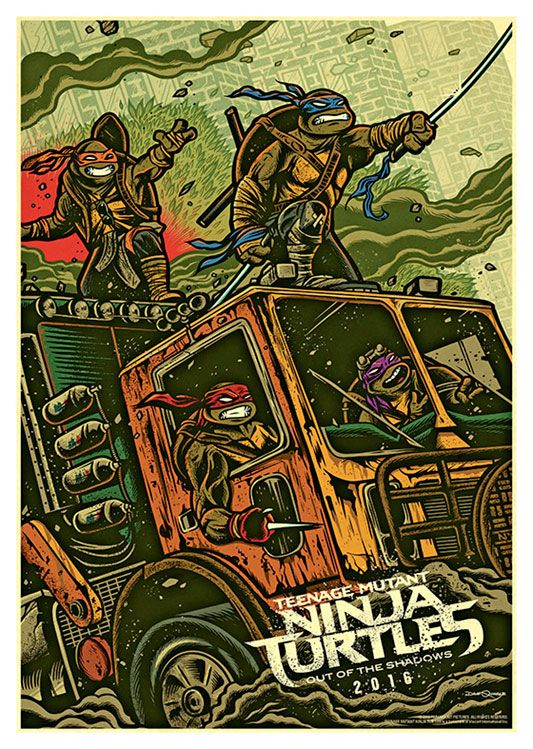 Ninja Turtles Poster, available at 45x32cm. This poster is printed on matt coated 350 gram paper.