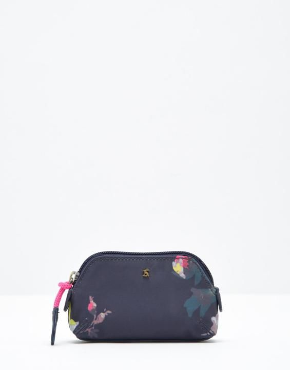 Moneypenny canvas French Navy Floral Purse , Size One Size | Joules UK