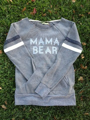 "Contemporary Fit Raw-Edge ""MAMA BEAR"" – LOVED BY HANNAH AND ELI"
