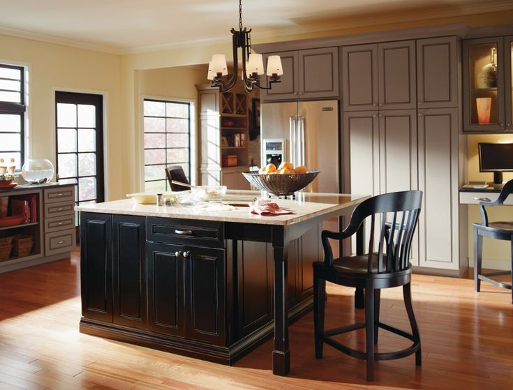 Belgrade maple river rock kitchen by thomasville cabinetry for Thomasville cabinets