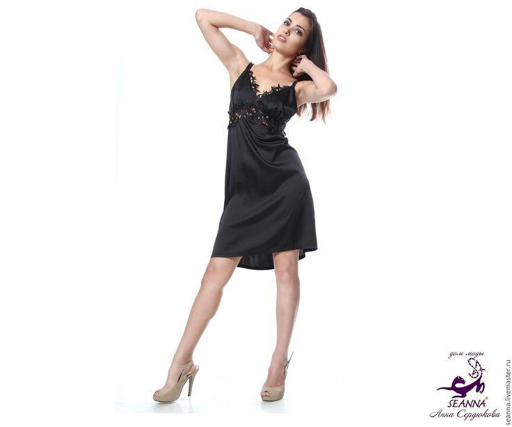 """Купить Сексуальное платье для дома - в любом размере """"Кружевные мотивы"""" - платье, платье шелковое"""