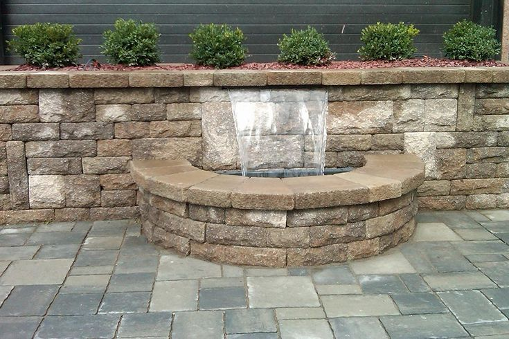 Water Retaining Devices : Best water feature in retaining wall images on