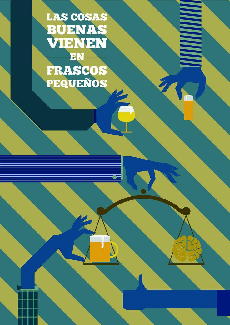 Cartel para el concurso Cerveceros de España | June 2015 | Roberto García