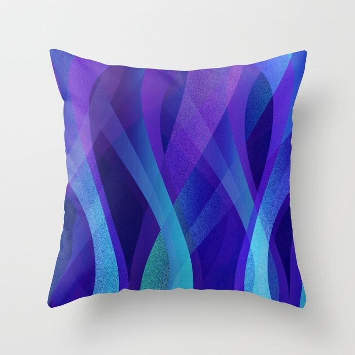 SOLD Throw Pillow Abstract background G143! https://society6.com/product/abstract-background-g143_pillow#s6-1573291p26a18v126a25v193 #Society6 #Throw #Pillow #Abstract #waves #background #modern #purple #blue #home #homedecor