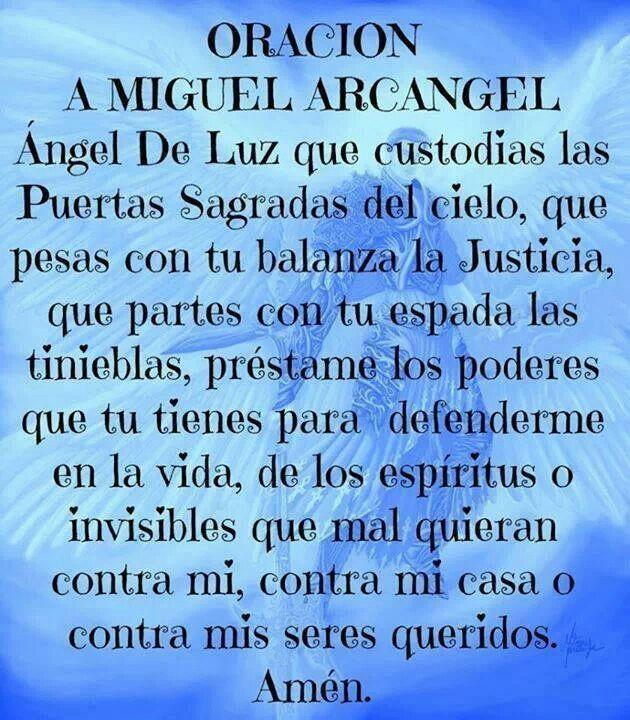 29 de septiembre día de San Miguel Arcangel. Oración a San Miguel Arcangel...