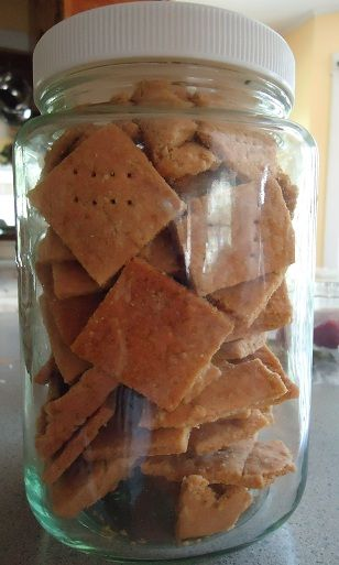Whole Wheat cheese crackers-my little girl LOVES these as much or more than gold fish.  These are SO good...but addicting.  note-add a bit of garlic powder and use sharp cheddar.