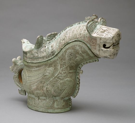 Unknown Artist, Ritual Wine-Pouring Vessel (Guang) with Tiger and Owl Decor, 13th century BC | Harvard Art Museums/ Sackler Museum 👉🏿 ♣️Fosterginger.Pinterest.Com♠️ More Pins Like This One At FOSTERGINGER @ PINTEREST 🖤No Pin Limits👈🏿Follow Me on Instagram @  👉🏿FOSTERGINGER75👈🏿 and 👉🏿ART_TEXAS👈🏿