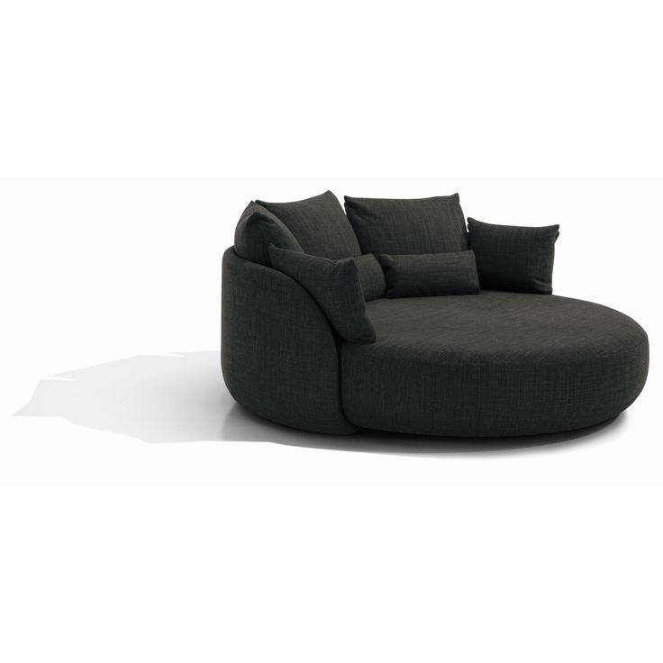 "Totally impractical sofa for our small space at 81"" round - is it wrong to love it?"