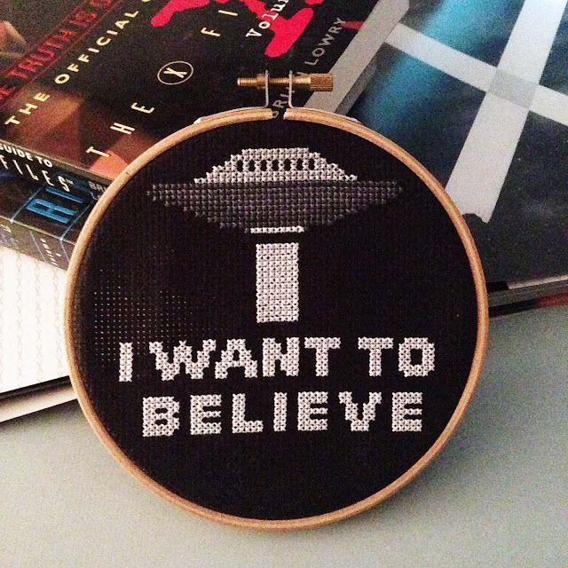 X-Files X-Stitch | KBB Crafts & Stitches --- Easy cross stitch pattern for X-Files fans.