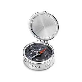Tiffany 1837™ compass in sterling silver.