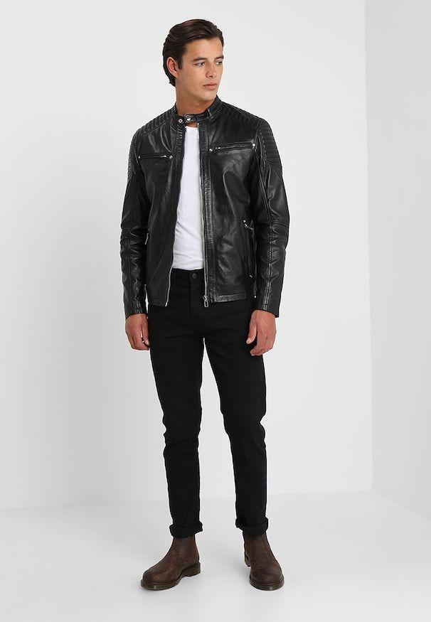 49eac273 TOPPER - Skinnjakke - black in 2019 | Black leather jackets | Black,  Leather, Black leather