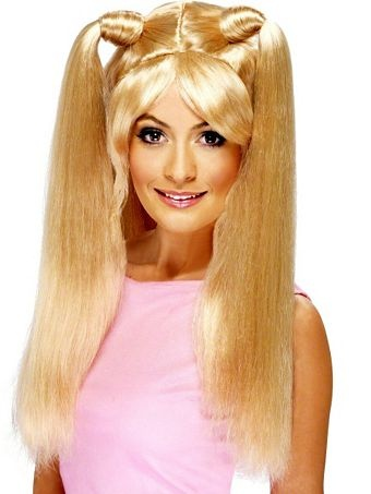 Girl Power Baby Spice Pony Tails Blonde Wig Womens | Wholesale Wigs-Blonde Halloween Costumes for Hats, Wigs & Masks