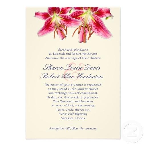 stargazer lily wedding invites