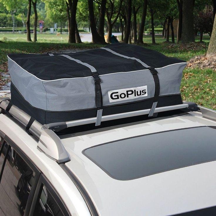 Car Van Suv Roof Top Waterproof Luggage Travel Cargo Rack Storage Bag Carrier