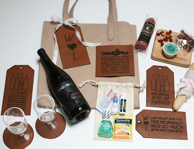 DIY Vineyard Wedding Welcome Bag