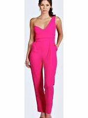 boohoo Alisia One Shoulder Sweetheart Jumpsuit - pink Make a statement in this sweetheart neck jumpsuit . We love wearing it with skyscraper heels , a metallic clutch bag and quirky arm cuff . http://www.comparestoreprices.co.uk/womens-clothes/boohoo-alisia-one-shoulder-sweetheart-jumpsuit--pink.asp