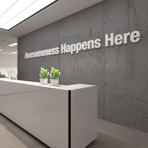 Awesome, Office, 3D, Typography, Wall, Art, Decor, PVC, Inspirational, Motivational, Work, Sucess, Decals, Stickers – SKU:AHH