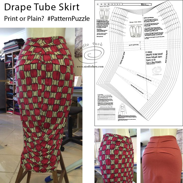 Sewing Patterns PDF You can now download this PDF sewing pattern! #DrapeTubeSkirt Sewing Patterns PDF #PatternPuzzle #SewingPatterns