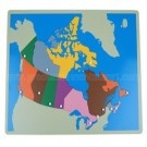 Canada Puzzle Map Without Frame Geography