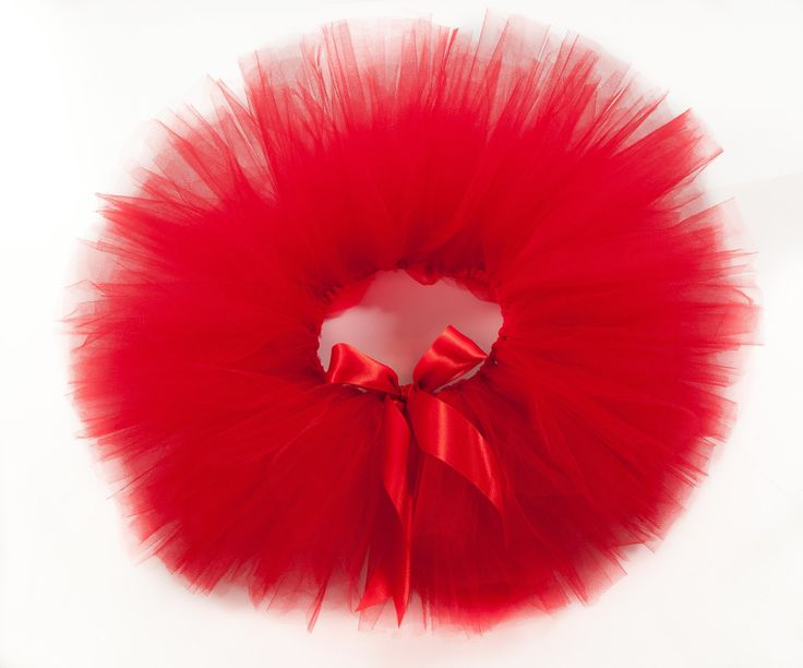 Red Tutu, Christmas Tutu, Valentines Day Tutu by ThePrettyPansy on Etsy