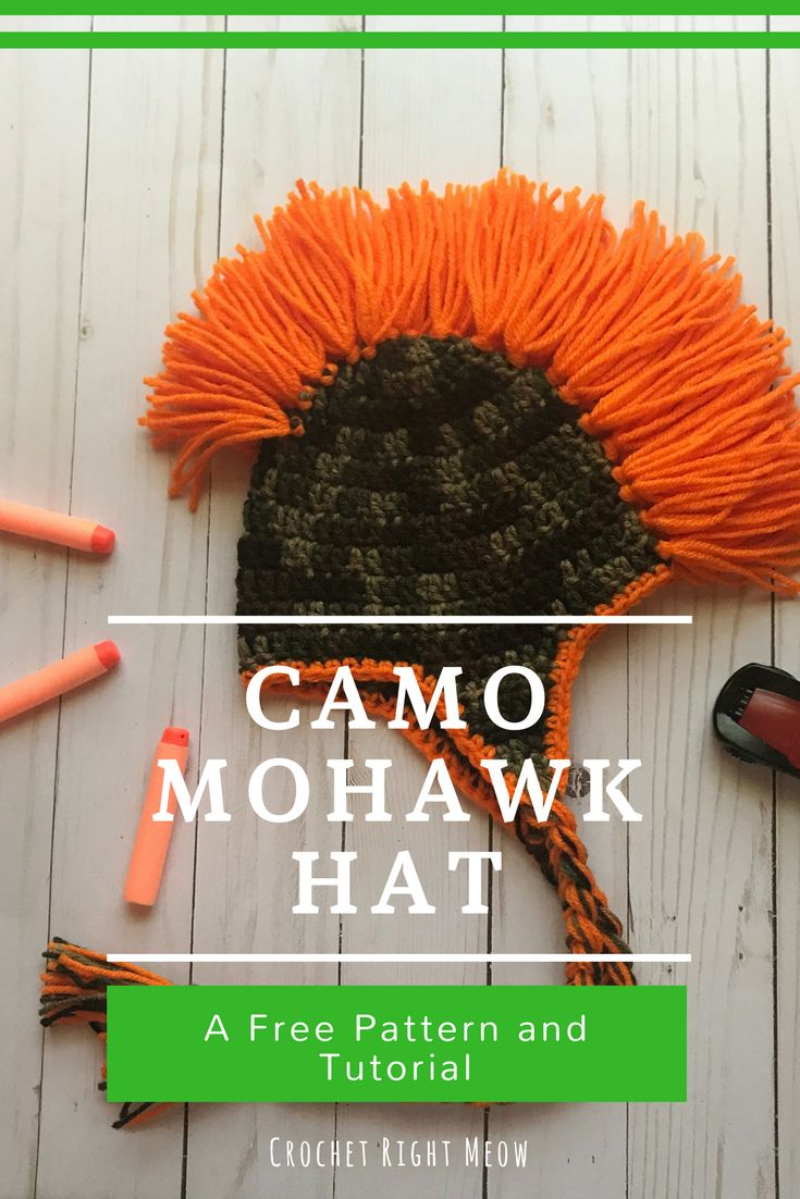 Best 25 mohawk crochet hat ideas on pinterest crochet mohawk camo mohawk hat free crochet pattern by crochet right meow bankloansurffo Gallery
