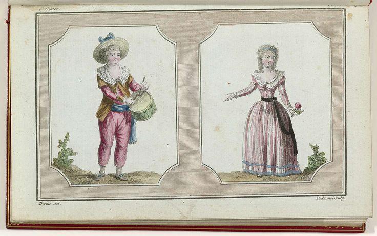 Cabinet des Modes ou les Modes Nouvelles, 1 Février 1786, 6e cahier, pl. I, Buisson, 1786