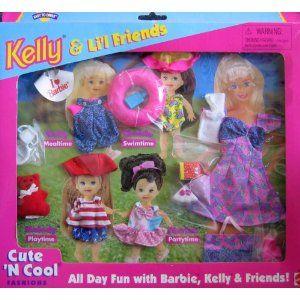Barbie KELLY & Li'l Friends Cute 'N Cool Fashions, All Day ... Cutencool
