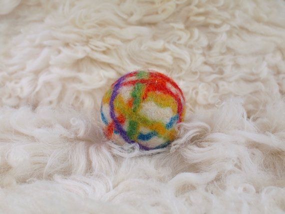 Striped Color Dog Toy Cute Wool Dog Ball Cat Ball Felted Ball Toy
