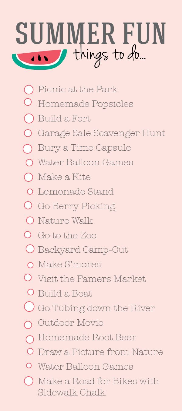 Fun in the Sun: Our Bucket List for Summer!