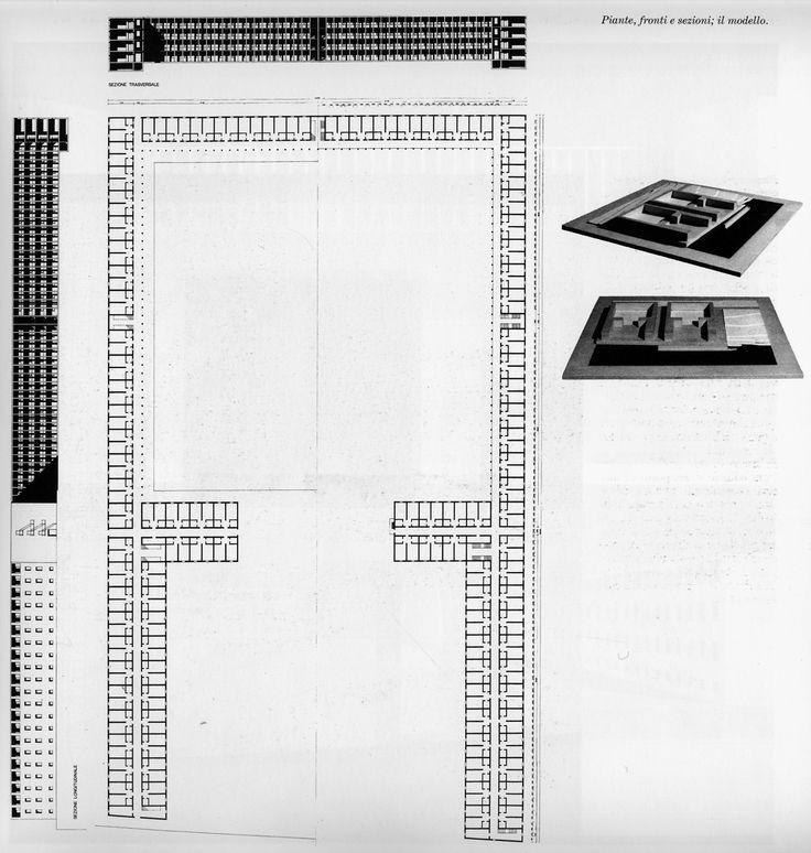12e-pavie-unite-residentielle-sur-le-fleuve-a-borgo-ticino-1972-plan-coupes-et-vue-de-la-maquette.gif (1208×1272)